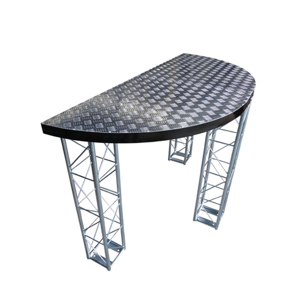 Mesa para DJ's com tampo em alumínio